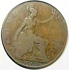 Uk (Great Britain) 1905 One Penny (1d.) King Edward Vii