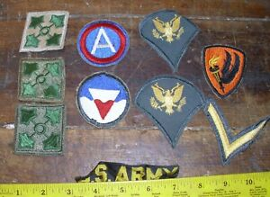 WWII kOREAN  ? US ARMY SHOULDER PATCHES  MIXED LOT of 18   E4  infantry