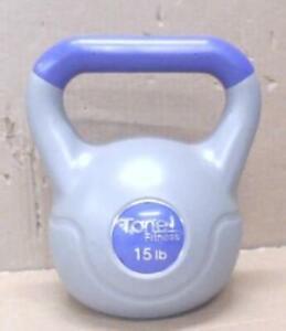 Tone Fitness SDKC-TN015 15 lb Vinyl Kettlebell Purple