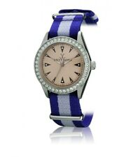 Toy Watch Women's Swarovski Crystals Stainless Steel Blue Gray Strap 36mm Watch