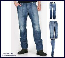 jeans g-star raw uomo slim fit g star gamba dritta svasati fire elwood w28 29 30