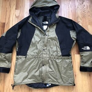 Mens Vintage 90s The North Face Gore Tex Mountain Light Olive Green Jacket Sz XL