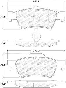 StopTech For 2002 - 2006 Mercedes-Benz S500 Disc Premium Brake Pad Set 308.09860