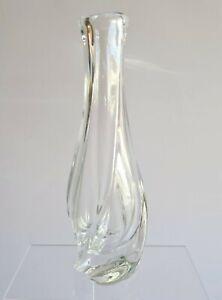 Vase Torsadé en Cristal signé SAINT-LOUIS années 50/60 Hauteur : 19,6 cm XXème