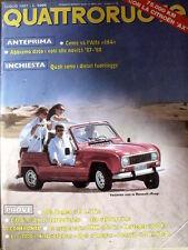Quattroruote 381 1987 Test Alfa Romeo 33 1.5 TI - BMW 730i vs Mercedes 300 [Q52]