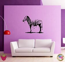 Wall Sticker Zebra Africa Animal Black And White Cool Decor for Living Roomz1366