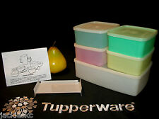 Tupperware PASTEL 16oz Freezer Square Rounds ~Pak n Stor Double Square Round