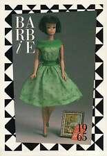 "Barbie Collectible Fashion Trading Card  "" Modern Art ""  Green Dress, Sash 1965"