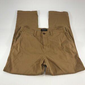 American Eagle Men's Brown Chino Pants Extreme Flex Straight Leg Size 32x28