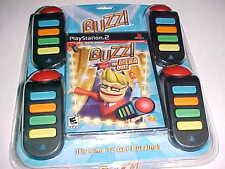 Play Station 2 BUZZ: The Mega Quiz Bundle Video Games New