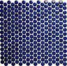 Mosaik Fliese Knopf Penny Rundmosaik kobaltblau glänzend Wand Boden - 10-0405_b