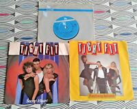 """3  X Tight Fit  7"""" Singles  All Vinyl Excellent  2 Picture Sleeve"""