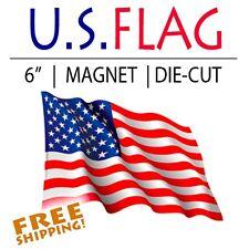 "Magnet American Flag Waving 6"" Patriotic Usa Us die-cut - .030"" Thick"