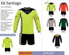 Completo Calcio da Portiere KIT SANTIAGO GIVOVA Elasticizzato, 5 Colori a scelta