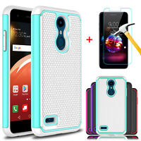 For LG K30 2018/Premier Pro LTE/Phoenix Plus Shockproof Case + Screen Protector