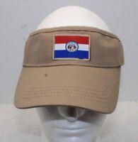 Brown Khaki State Of Missouri Flag Visor Cap Brand New