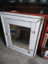 Vintage Beveled Glass Medicine Cabinet, Wood Mid Century Bathroom  2 Shelves