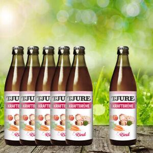 Tjure Kraftbrühe Rind 320 ml - der Hit für Hunde & Katzen - 5 + 1 Aktion