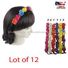 12pcs Boho Halo Flower Bridal Headband Hairband Crown Garland Wedding Party Lots