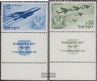 Israel 254-255 mit Tab (kompl.Ausg.) postfrisch 1962 Unabhängigkeit