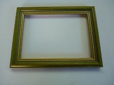 """Green Photo frame with gold sight edge for  7"""" x 5""""  photo"""