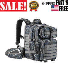 35L Military Tactical Backpack Army Molle Pack Bug Out Bag Hiking Gear ACU-Blue
