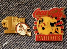 New England Patriots~Lot of 2 Pins~Collection~Set~NFL~#1 Fan~Coca Cola~Coke