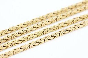 Königskette 333 Gold 8K Gelbgold Halskette 90cm 2,0mm vierkant 20,02g massiv