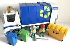 Playmobil 4129 Recycling Bin Lorry Wheelie Bins Garbage Truck See Description