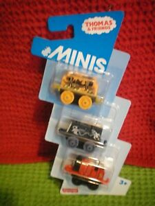 THOMAS & FRIENDS MINIS ..JAMES,STEEL D-10 & SPACE SCRUFF. NEW  stocking filler
