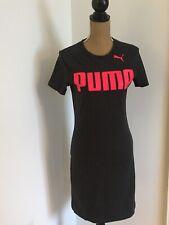 PUMA Urban Sports Dark Grey Logo Bodycon Dress, Size Medium. NEW