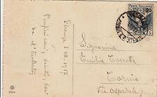 CROCE ROSSA 20 su 15 cent(105)- Cartolina Firenze->Torino 3.10.1917