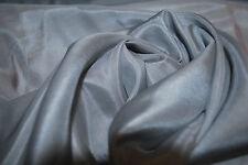 Silk Cotton Lawn woven Fabric HighEnd luxury fabric by the Yard  Medium Grey