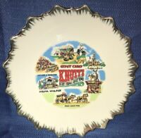 Vintage Knott's Berry Farm & Ghost Town Gypsy Camp Ceramic Plate Souvenir Old