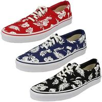 Unisex Vans Off The Wall Lace Up Canvas Shoes Red/Blue/Black Era