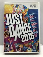 Just Dance 2016 - Nintendo Wii - Clean & Tested Working - Dance Fitness - Tested