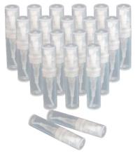 25 x 3ml Empty Plastic Spray Atomiser Perfume Sample Bottles