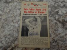 Signed Bob Feller 1960 Baseball Hi-Lite.  Cleveland Indians. Hall of Fame member