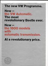 VW VOLKSWAGEN BEETLE, COUPE, convertibili Karmann + più auto opuscolo 1967 - 1968