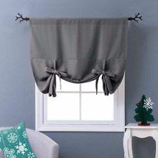 Thermal Balloon Shades Insulated Grey Blackout Curtain Tie Up Shade Small Window