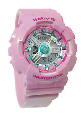 Casio BA110CA-4A Baby-G Black Analog Digital Pink Women Watch