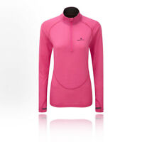 RonHill Womens Infinity Merino 1/2 Zip Top Pink Sports Running Half Breathable