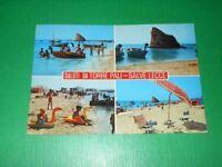 Cartolina Saluti da Torre Pali - Salve Lecce - Vedute diverse 1981.