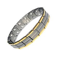Da Uomo Titanio Super Forte terapia magnetica braccialetto Bio guarigione Artrite 009