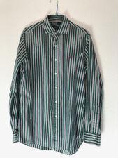 POLO Ralph Lauren Herren Hemd Gr. M grün m. weiß/roten Streifen