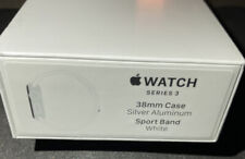 New Sealed Apple Watch S3 GPS 38mm Silver Aluminum Smartwatch White Sport Band