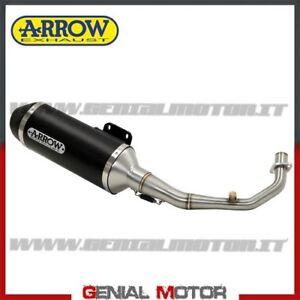 Scarico Completo Arrow Urban Alluminio Nero Piaggio Beverly 500 2003 > 2008