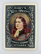 Old Single Playing Card Rigby's Wm Penn King of Havana Cuban 10c Vtg Cigars