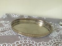 Vintage silver plated serving/tea tray 'Cavalier""