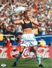 Brandi Chastain 1999 World Cup Signed 11x14 Photo Psa/Dna X73473
